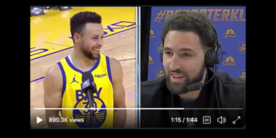 Klay Thompson interviews Steph Curry